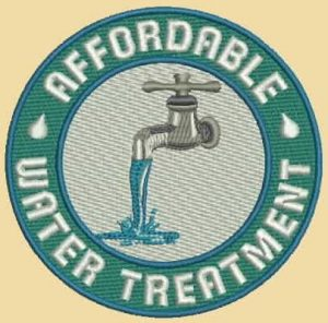 Affordable Water Treatment logo embroidered by Harbor Graphics