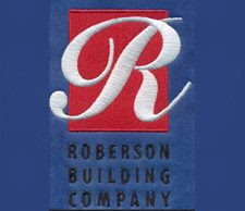 Roberson Building Company: Harbor Graphics Custom Embroidery Sample